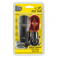 Image for Just Bike Super Bright LED Cycle Light Set & Batteries