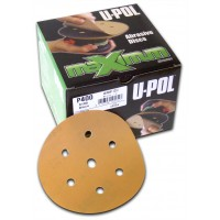 Image for U-POL Abrasive Latex Paper Discs 6+1 Hole 120 Grit Single Disc