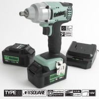 Image for Kielder 3/8 Inch Drive Impact Wrench 18V With 2 x 4.0 AH Batteries
