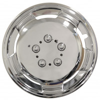 Image for Streetwize 15 Inch Deep Dish Wheel Trims Chrome Effect