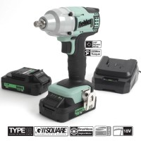 Image for Kielder 3/8 Inch Drive Impact Wrench 18V With 2 x 2.0 AH Batteries