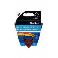 Image for BlueSpot 6 Pack 93mm Mixed Grit Delta Sanding Sheets