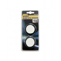 Image for Rotatable Black Circular Blind Spot Mirror Pack Of 2
